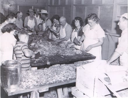 Chopping barbecue in the 1950s