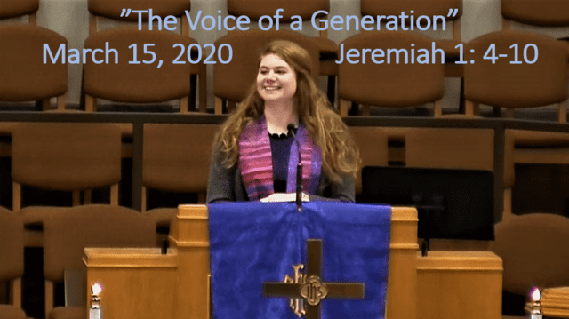 Sermon - The Voice of a Generation - Jeremiah 1:4-10
