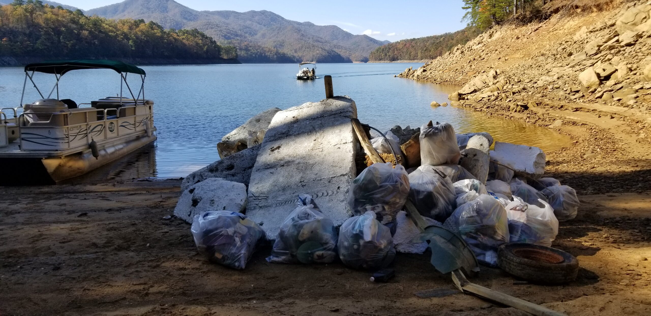 NCWF needs volunteers for the 4th annual Fontana Lake Shore Cleanup event held in western North Carolina, Nov. 5-7.
